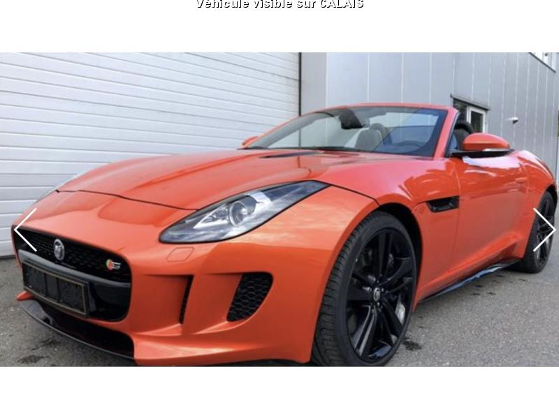voiture jaguar f type f type cabriolet v8 f type c occasion essence 2013 6200 km. Black Bedroom Furniture Sets. Home Design Ideas