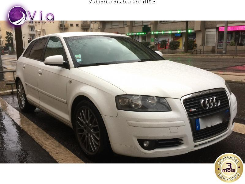 voiture audi a3 sportback 2 0 tdi 140 8p sportback s l occasion diesel 2008 121000 km. Black Bedroom Furniture Sets. Home Design Ideas