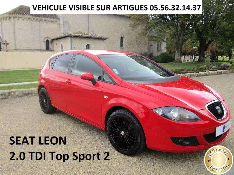 voiture seat leon occasion diesel 2007 145000 km. Black Bedroom Furniture Sets. Home Design Ideas